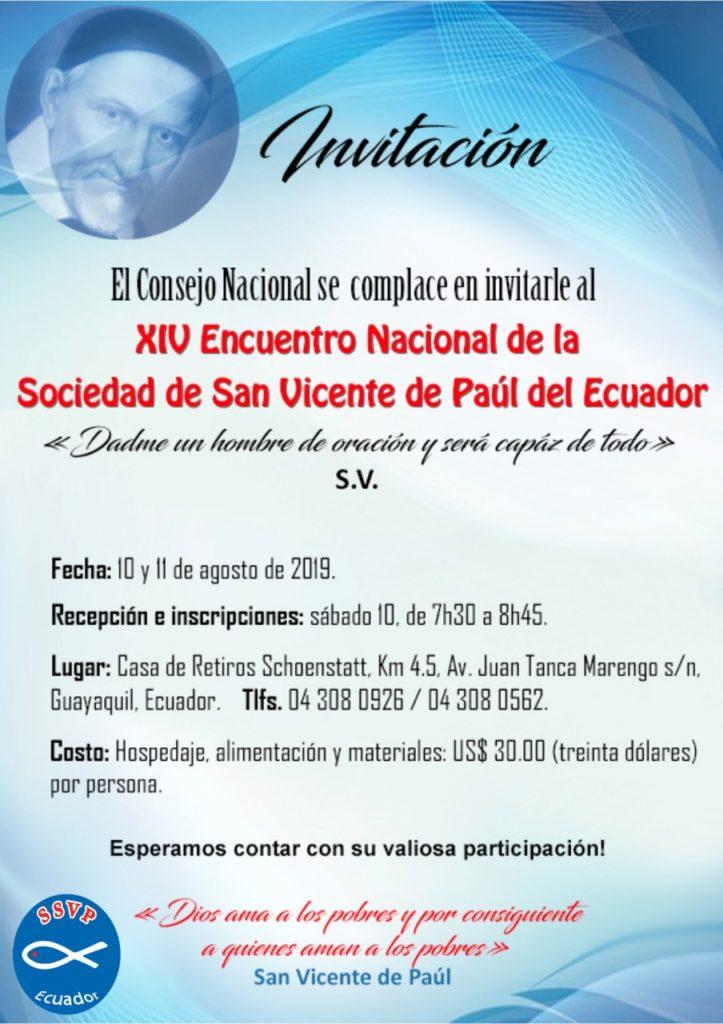 XIV Encuentro Nacional SSVP 2019
