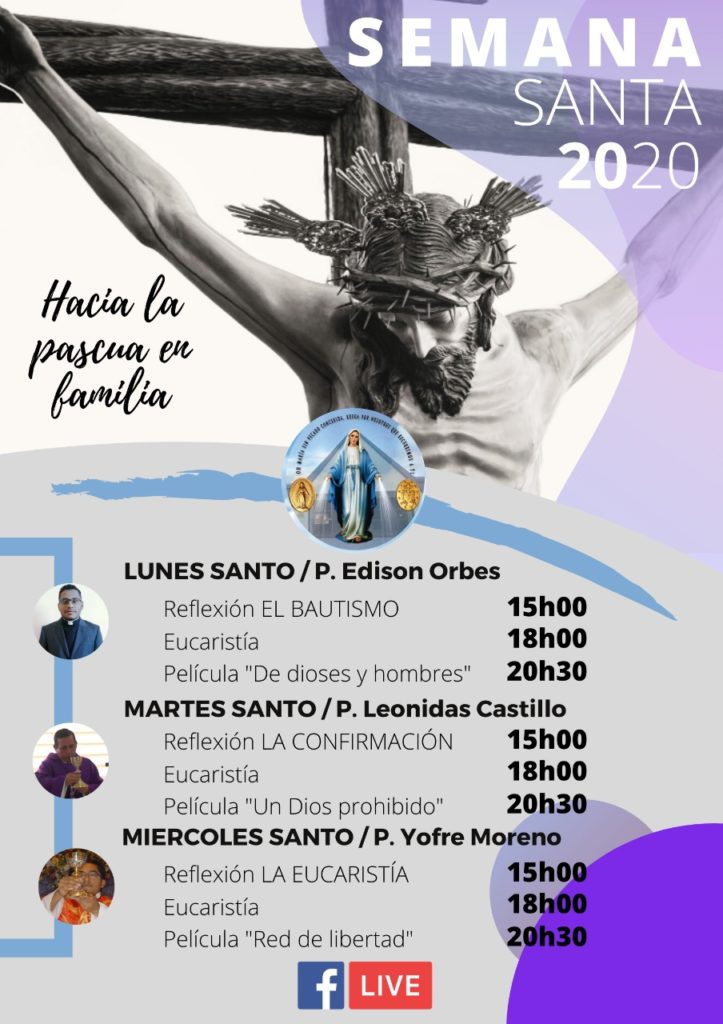 Semana Santa 2020 SSVP Ecuador